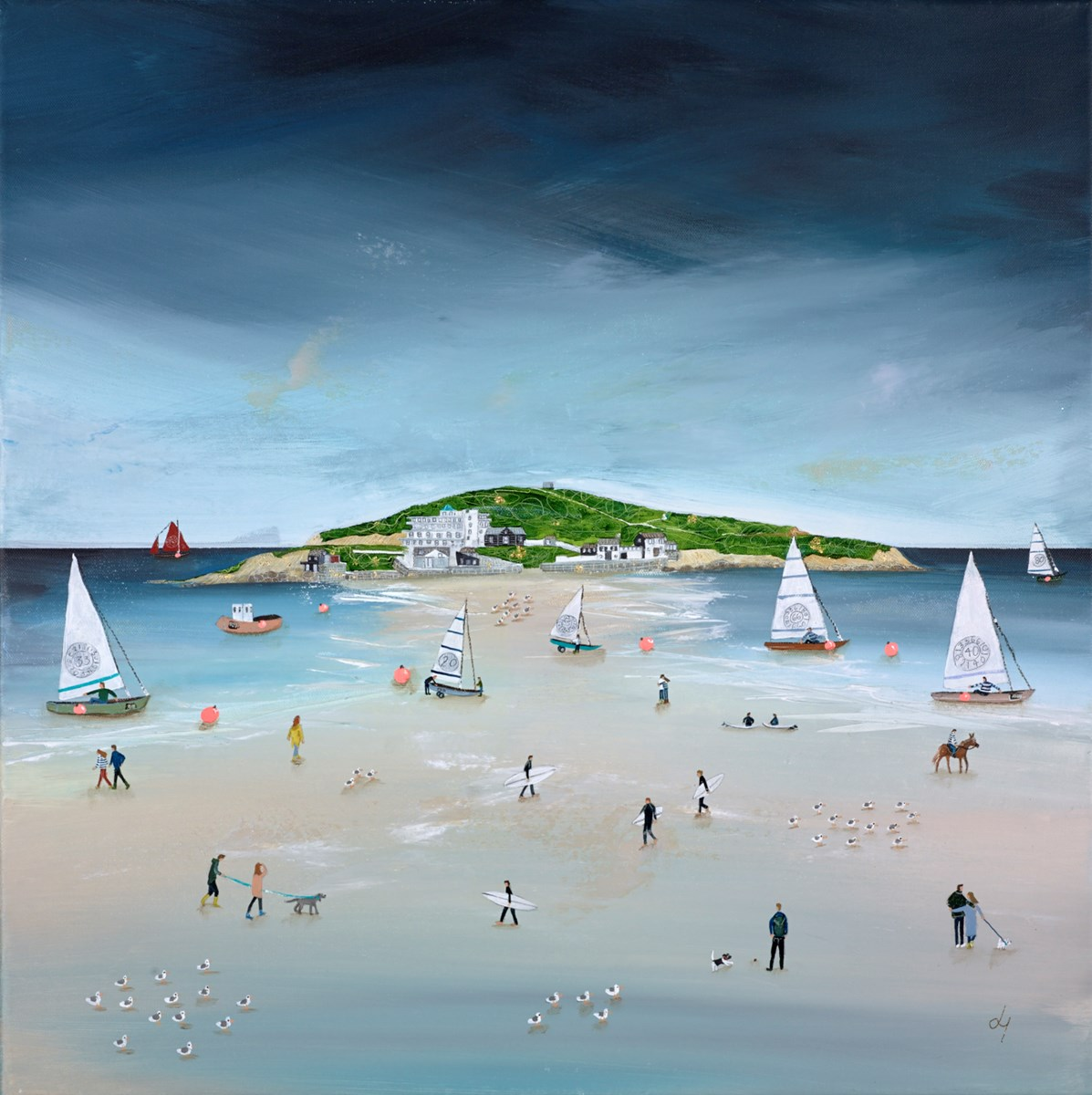 Surf 'n' Sails by lucy young -  sized 24x24 inches. Available from Whitewall Galleries